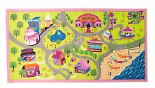 Children's Rugs Matrix Kiddy Girls World Washable Multi Play Mat/Rug - 80x120cms