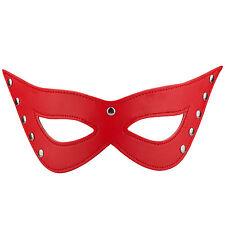 Trixes Rojo Piel Sintética Ojos De Gato Máscara Disfraz Sexy Baile De Máscaras