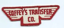 Coffey's Transfer Co driver patch 1-1/8 X 4-3/4 X 1-3/4