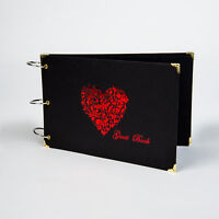 Guestbook Red Heart, Photo Album, Weddings, Birthdays, Anniversary Photo Booth