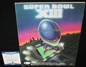 Terry Bradshaw signed Super Bowl XIII Program, Steelers, Bulldogs, Beckett BAS