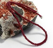 COLLAR, cadena de piedras preciosas, tallado en Facetas Rubí rojo, Joya rubíes,