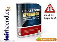 KINDLE EBOOK GENERATOR Amazon EBAY SOFTWARE TOOL DEUTSCH DIGITALARTIKEL E-LIZENZ