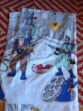 Vintage 1986 The Real Ghostbusters Cartoon Stevens Flat Sheet Twin Bedding *Rare