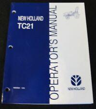 1997 1998 NEW HOLLAND TC21 TRACTOR OPERATORS MANUAL MINT