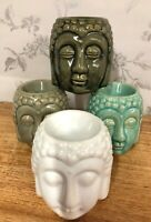Ceramic Crackle Glaze Buddha Head Oil | Wax Melt Burner - Choose from 4 colours