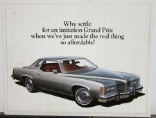 1976 Pontiac Grand Prix Sales Folder Original