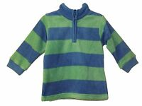 NEW BOYS UNISEX EX M & S STRIPEY FLEECE TOP JUMPER 12/18/24 2/3 3/4 4/5 5/6 6/7