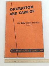 MANUALE USO MANUTENZIONE Willys Overland Owner's manual model 4-63 Jeep