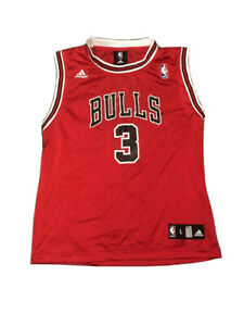 Chicago Bulls Ben Wallace #3 Jersey Boys Youth Large Adidas New Deadstock NWT