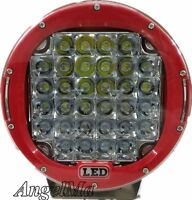 Pair 9 inch LED SPOT Driving Lights CREE Round Off Road 12V 24V Spotlights RED