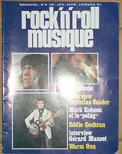 ROCK AND ROLL MUSIQUE N°6 TELEPHONE ROBSON VANDER MANSET WARM GUN EDDIE COCHRAN