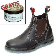 Redback Farm & Country Chelsea Work Boots Stiefelette UBOK Braun + Lederpflege