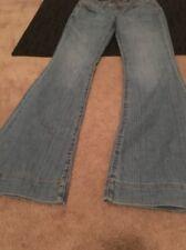 Seven Sexy Flare Womens Blue Denim Jeans Pants Clothes Sz 29