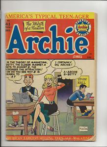 Archie 43, Archie Comics, 1950, VG-
