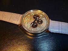 $700 BAIKAL Moscow Classic Watch Russia 31681 Bajkal Chronograph Poljot Silver