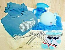 ★ Baby Windeltorte Windelkorb Basket * Wale,Whale Fisch * Geschenk Geburt Gift