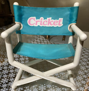 Vintage 1986 Playmates Cricket Talking Doll Blue Director's Chair Cassette Tape