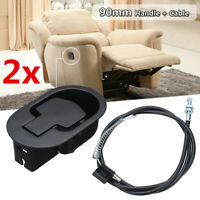 2PCS Metal Recliner Handle Release Lever Trigger Cable Sofa Lounge Chair Replace