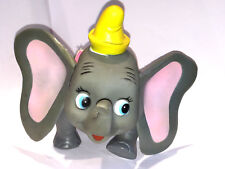 "DUMBO DAKIN TOY Vintage WALT DISNEY 1970's 7"" POSEABLE ELEPHANT Jointed PLASTIC"