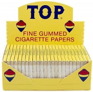 Top® Fine Gummed Cigarette Rolling Papers 24 Booklet ORIGINAL Free Shipping*USA*