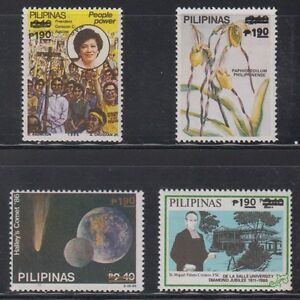 Philippine Stamps 1988 Surcharges 1.90p Complete set MNH