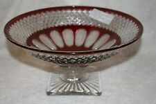 """Wakefield Crystal with Ruby Flash 10 1/2"""" Belled Footed Bowl"""