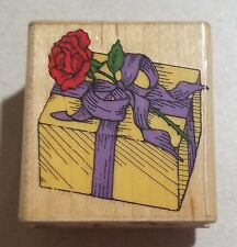 Hero Arts Wrapped With Rose Rubber Stamp C567 Gift Birthday Love Anniversary