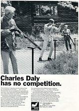 1966 Print Ad of Mr & Mrs Charles Daly & Son Jr Shotgun Shooting