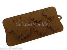 4 +1 Dragons Dragon miedo Chocolate Bakeware del silicón Molde Candy Pastel Molde Tin