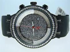 Joe Rodeo/Jojo Master Black 1 Row Diamond Watch 4.85 Ct