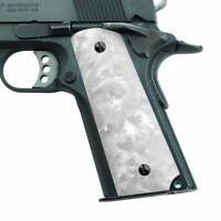 Altamont 1911 Grips - Pearl - Full Size 1911 Grips w. Ambi Safety fits Most Co..