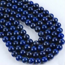 "10mm genuine Egyptian Lapis Lazuli Gemstone Round Loose Beads 15"" AAA"