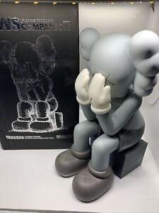 KAWS Passing Through Companion Vinyl Figure Grey New