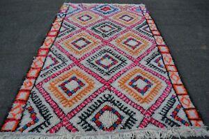 "Handmade authentic Azilal rug 8'2"" x 5'2"" Beni ourain Moroccan rug, tapis berber"