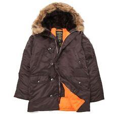 Alpha Industries N-3B Slim fit Parka color Deep Brown / Orange Clearance Priced!