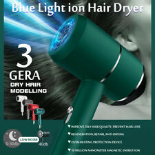 2000W Electric Blue Light Hair Dryer Ion Blower Hairdryer Hairdressing