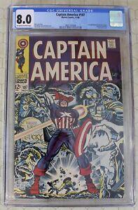 CAPTAIN AMERICA #107 CGC 8.0 (1968) 1st app. DOCTOR FAUSTUS (Marvel Comics)