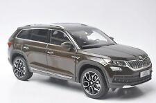 Skoda Kodiaq car model in scale 1:18 brown
