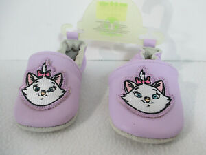 Disney Baby Shoe Marie Aristocat Moccasin Leather Purple 0-6 Month Soft Sole New