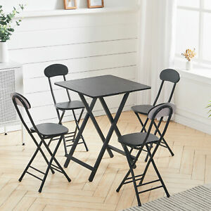 Square Garden Coffee Table 2/4Chairs Set Side End Bistro Balcony Foldable Modern