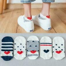 5X Frauen Männer Socken Arbeit Herzförmigen Baumwolle lässig Sneaker Socke I6U4