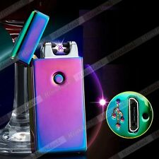 Dual Arc Cigarette Lighter USB Rechargeable Electric Beam Plazma Plush Torch tab
