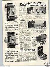 1957 PAPER AD Polaroid Land Camera Highlander Speedliner 95A Argus