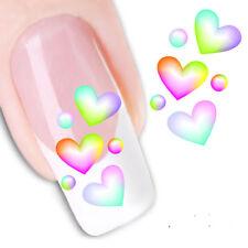 Pegatinas  stickers corazones Nº 25 para la decoración de uñas, nail art FX1209