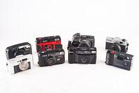 Lot of 8 Point & Shoot Film Cameras Canon Olympus Nikon for Parts Repair V18