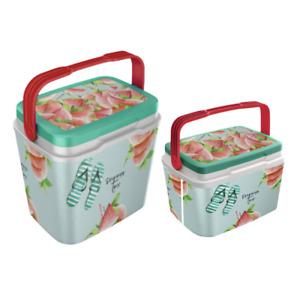 Kühlbox Kühltruhe Isolierbox Coolbox 2er-Set tragbar Reise Picknick Camping