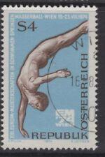 Autriche SG1714 1974 European Natation, Plongeon et Water Polo Championships utilisé