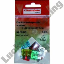 NEW pack of 5x assortment of mini blade fuses motorcycles 10A 15A 20A 25A 30A