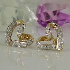 Ohrschmuck aus Gelbgold mit Diamanten runde Butterfly-Verschluss für Damen